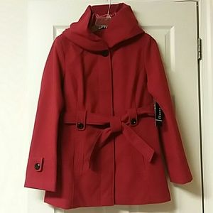 Red George Coat never worn size M 8-10
